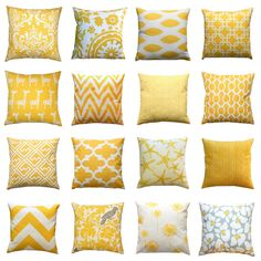 8 Good-Looking Tricks: Large Decorative Pillows Dog Beds decorative pillows combinations beds.Decorative Pillows Living Room Boho decorative pillows patterns how to make.Decorative Pillows On Bed Red. Couch Grey, Yellow Couch, Yellow Throw Pillows, Yellow Cushions, Red Pillows, Couch Pillows, Bedroom Yellow, Red Bedrooms, Bright Pillows