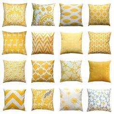 8 Good-Looking Tricks: Large Decorative Pillows Dog Beds decorative pillows combinations beds.Decorative Pillows Living Room Boho decorative pillows patterns how to make.Decorative Pillows On Bed Red. Bright Pillows, Yellow Throw Pillows, Yellow Cushions, Red Pillows, Couch Pillows, Accent Pillows, Couch Grey, Yellow Couch, Bedroom Yellow