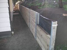 I want to try this one. wood retaining walls | ... Wall , Pine Sleeper Wall , Retaining Wall , West Coast Retaining Wall