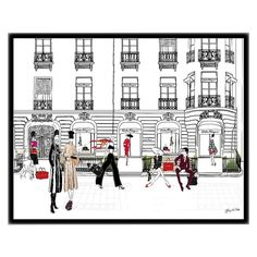 FERRAGAMO, Paris - Illustration - Framed Limited Edition Print – Tiffany La Belle