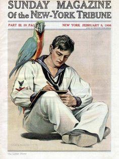 John E Sheridan (1880 - 1948)  The letter home / 1908
