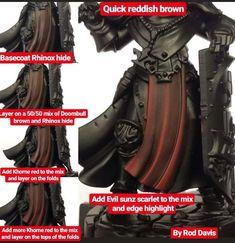 Warhammer Figures, Warhammer Paint, Warhammer Models, Warhammer 40k Miniatures, Warhammer 40000, Orks 40k, Painting Recipe, Painting Tips, Figure Painting