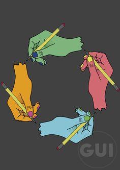 Hands one illustrator