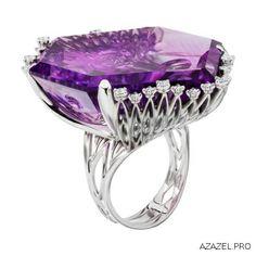 Перстень с Аметистом Ring with Amethyst  #ring #аметист #amethyst #ювелир #алмаз #diamond #перстень #кольцо #красота #камень #мода #стиль #fashion #woman #stone #style #jewelry #bijouterie #jewellery #podium #gemstone #exclusive #russia #украшения #best #эксклюзив #россия #супер #best #дизайн #design