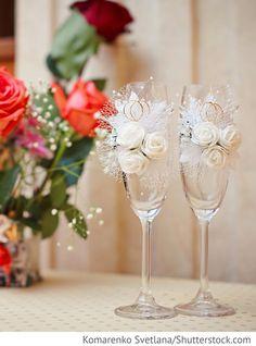 Sektgläser zur Hochzeit für Brautpaar für russische Hochzeiten