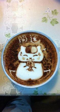 Natsume Yuujinchou ~~ Nyanko-sensei as Latte Art /Favimages.net