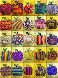 Jesienne inspiracje Landscaping iDeas Crafts For Kids 🍂 Fall Art Projects, School Art Projects, Apple Art Projects, Art 2nd Grade, Classe D'art, Kindergarten Art, Collaborative Art, Art Lessons Elementary, Elementary Schools