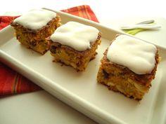 Carrot cake - glaçage à l'amande {sans gluten - sans lactose}