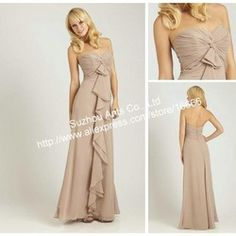 mobile site-Free Shipping Wholesale Hot Sell Designer Empire 2013 Sleeves floor Length Chiffon Champagne Bridesmaid Dress Long BD670