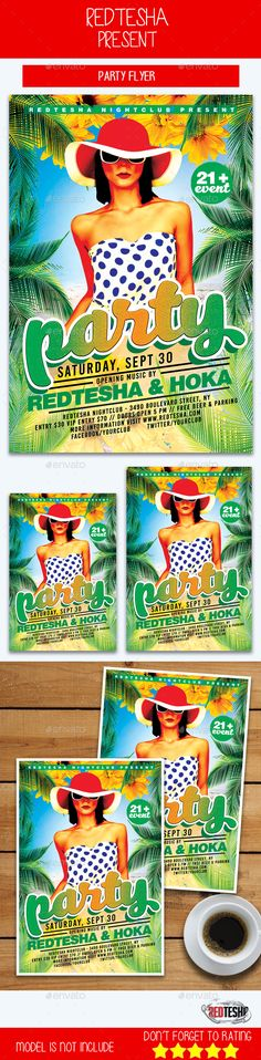 #Party #Flyer - #Events Flyers Download here: https://graphicriver.net/item/party-flyer/20360614?ref=alena994