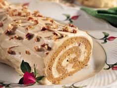 Spiced Pumpkin Praline Roll