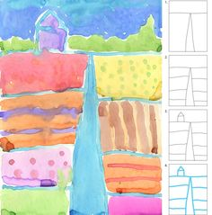 Watercolor Landscape  With tweaking, use for Thiebaud, Grant Wood . . .  also can tie to geography and need for irrigation