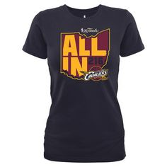 Cleveland Cavaliers Women's Navy 2016 Eastern Conference Champions State T-Shirt