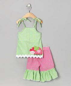 Take a look at this Green Ladybug Tunic & Pants - Infant & Toddler by Mud Pie on #zulily today!