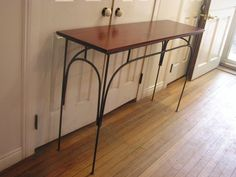 Custom Rustic Industrial Sofa Table