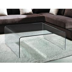 Abbott Square Glass Coffee Table  glass   $450
