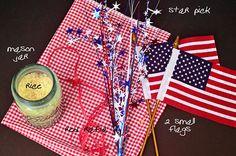 patriotic centerpiece supplies