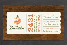 event ticket themed business card