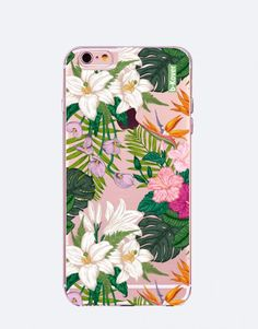 funda-movil-flores-1-2 Estilo Tropical, Phone Cases, See Through, Flower Designs, Mobile Cases, Phone Case