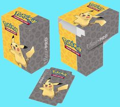 Pokemon Deck Box Pikachu Charizard Eevee Pokeball Ultra Pro Holds 80 Cards
