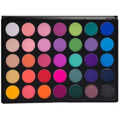 35B 35 COLOR GLAM PALETTE ($20) ❤ liked on Polyvore featuring beauty products, makeup, eye makeup, eyeshadow, beauty, bright eye makeup, bright eyeshadow and palette eyeshadow
