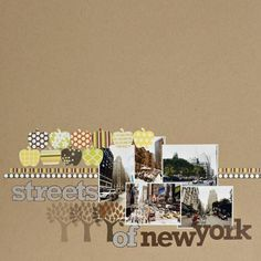 Streets of New-York by Armance alissa Peas in a Bucket Scrapbook Quotes, Scrapbook Page Layouts, Scrapbook Albums, Scrapbook Cards, New York Scrapbooking, Scrapbooking Ideas, Digital Scrapbooking, Scrapbook Paper Crafts, Scrapbook Supplies