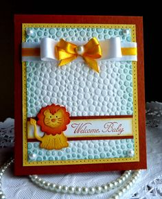 Olena's Place: CottageCutz post - Welcome, Baby! card
