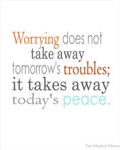 On Worrying