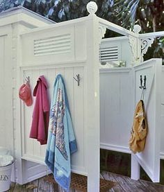 Outdoor Shower. Perfect for by the pool!