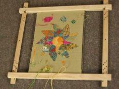 Stickrahmen 'Easy Frame', schnelles Einspannen durch Klemmung in einer Keilnut, Arbeitsbreite 45 oder 60 cm, für Ihre textilen Ideen