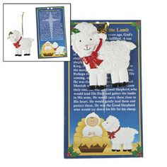 legend of the lamb christmas ornament with legend card christian christmas gift christian gifts