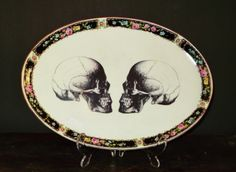 Double skull platter by wild and violet
