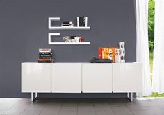 Image result for white gloss living room units