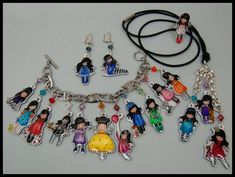 Bracelet charms made out of Krimpie Dinkie