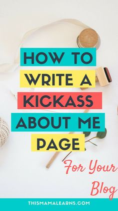 "How many times have you seen this: ""Hi there, Welcome to my site! My name's Cath and I love dogs... blah blah blah. Nope! Your about me page has to pack a punch! Learn how to write a good one here."