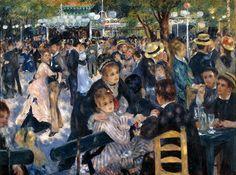 """Auguste Renoir – """"Baile en el Moulin de la Galette"""" (1875, óleo sobre lienzo, 131 x 175 cm, Museo d'Orsay, París)"""