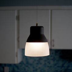 """Glass Pendant Light - Bronze: Wireless & LED Battery Powered. This award winning product can hang anywhere with just two toggle bolts (included) and has an adjustable cord so it can hang from 8"""" to 44"""". Remote control included #WirelessLighting #ItsExcitingLighting #Pendant #PendantLight #Lighting"""