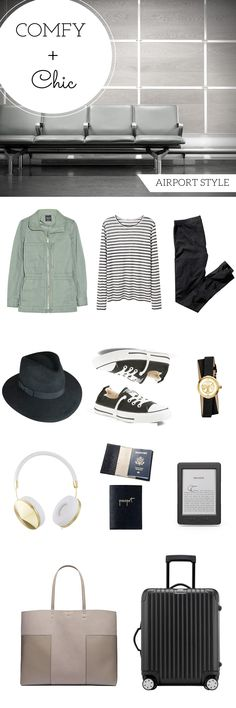 Comfy and chic airport style that is perfect for a long trip to Europe. Everything I'm wearing on my flight overseas.