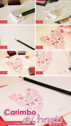Namorada Criativa: DIY: Cartão Dia dos Namorados
