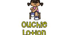 Here's a label for your ouchie lotion bottle – its sure to brighten your children's faces!