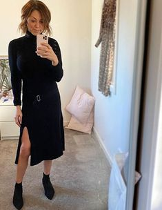 Chelsea teams our Stephanie Dress with sock boots for an elevated look, perfect from work to weekend. Chelsea Team, Dresses For Work, Socks, Fashion, Moda, Fashion Styles, Sock, Stockings, Fashion Illustrations