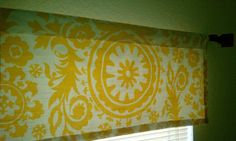 Valance for windows, really want this in my kitchen.