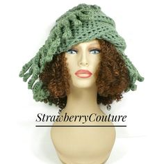 Sage Green Crochet Hat Womens Hat Trendy African Beanie African Hat Light Sage Green Hat TRIBAL Hat Crochet Beanie Hat for Women by strawberrycouture by #strawberrycouture on #Etsy