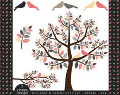 Amour oiseaux Rhapsodie romantique - clipart numérique