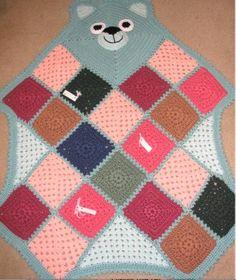 Bearghan By Pat Lilti - Free Crochet Pattern - Alternate Source For Pattern - http://www.geocities.ws/cdjsimon/bearghan.html - (yarncrazy.blogspot)