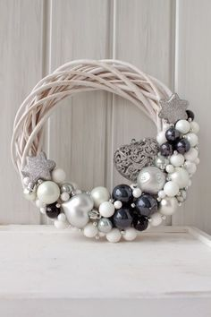 Are you looking for inspiration for christmas wreaths?Check out the post right here for unique Xmas ideas.May the season bring you joy. Decoration Christmas, Noel Christmas, Xmas Decorations, Winter Christmas, Christmas Quotes, Diy Wreath, Ornament Wreath, Wreath Ideas, Christmas Crafts