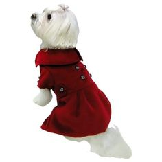 Dogit Style Military Dog Peacoat, Small, Red $14.81