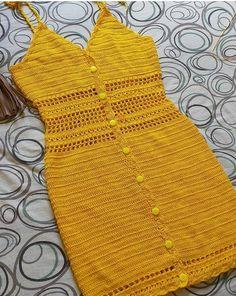 Crochet Dresses 64359 Easy crochet summer dress for women Pull Crochet, Diy Crochet, Crochet Bikini, Crochet Top, Crotchet, Unique Crochet, Beautiful Crochet, Knitting Designs, Crochet Designs