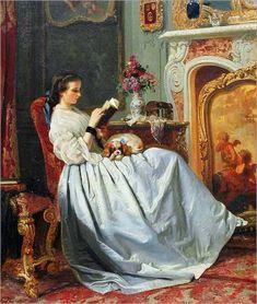 Charles-Louis-Baugniet- The reader