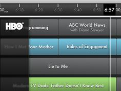 75 best TV Guide UI images on Pinterest   Tv guide  App ui and     Tv Guide iPad app